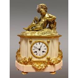 Napoleon III Golden Bronze Clock