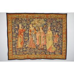 Tapisserie Aubusson style Moyen-Age mille fleurs