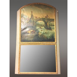 Large Trumeau Mirror Louis XIV style