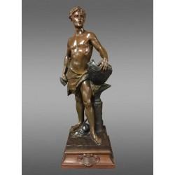Bronze Le Travail Par Emile Laporte
