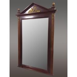 Mahogany Empire Style Mirror Gilded Bronzes