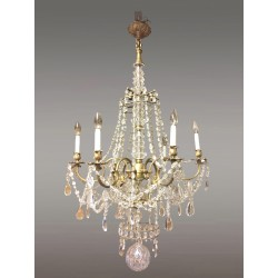 Large chandelier Louis XV style bronze