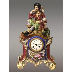 Porcelain Clock 1830 Jacob Petit style