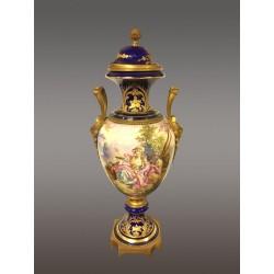 Large Vase Faéence Sévres Style