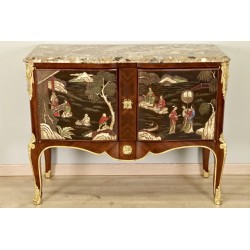 Transition Style Chest of Drawers Lacquer by Coromandel