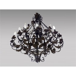 Large Wrought Iron Chandelier Louis XV Style