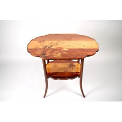 Art-nouveau Pedestal Table By Emile Gallé