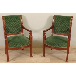 Pair of armchairs Return from Egypt Consulate period