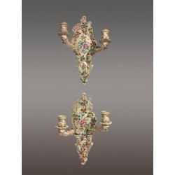 Pair of Porcelain Wall Lights
