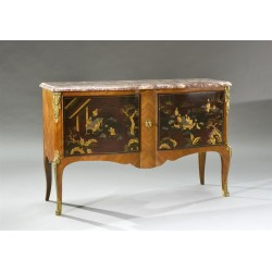 Chinese Lacquer Transition Style Chest of Drawers