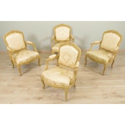 Louis XV style armchairs and armchairs Chassis