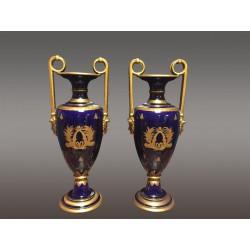 Ceramic Vases Of Tours Signed Peaudecerf