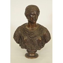 Antique Barbedian Woman Bust Fondeur