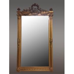 Large Golden Mirror Louis XVI Style