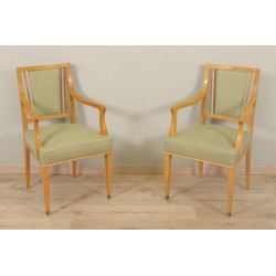 Pair Of 1940 Jean Desnos Style Armchairs