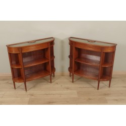 Lovely pair of Louis XVI style console display cases.