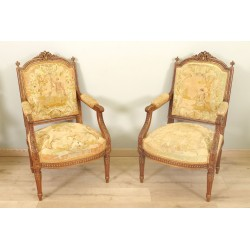 Louis XVI style armchairs Petit Point