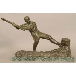 Art-Deco Bronze Signed Ouline