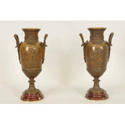 Napoleon III Vases Signed Léon Boucher