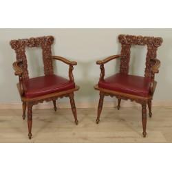 Pair Of Renaissance Style Armchairs