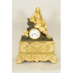 Clock Charles X Golden Bronze