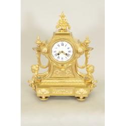 Golden Bronze Clock Napoleon III