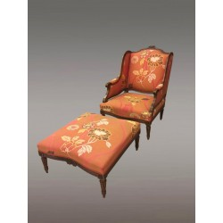 Bergére And Footrest Style Louis XVI