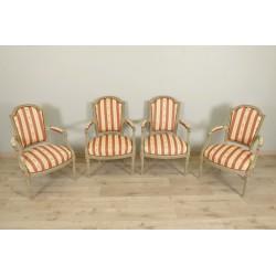 Louis XVI style armchairs