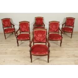 Six Restoration Period Armchairs
