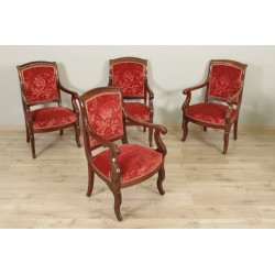 Four Restoration Period Armchairs