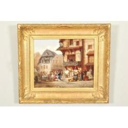 Léonard Saurfelt: Market In Alsace