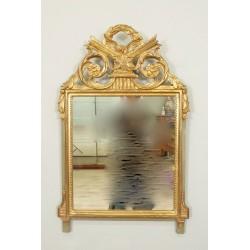 Golden Wood Mirror Louis XVI Style