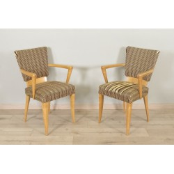 Pair of 1950 Sycamore Armchairs