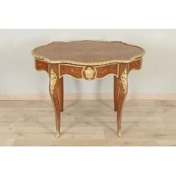 Napoleon III pedestal table, gilded bronzes