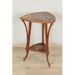 Emile Gallé : Art-Nouveau Pedestal Table