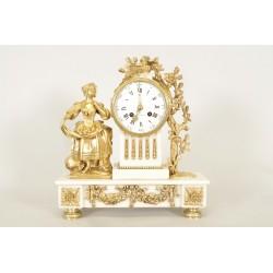 Louis XVI style gilt bronze clock