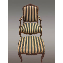 Louis XV period Armchair And Footrest