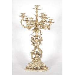 Large gilt bronze candelabra in Louis XV style