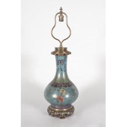 Gagneau lamp Far East style in cloisonné