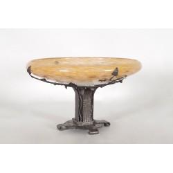 Charles Schneider: Art-Deco wrought iron bowl