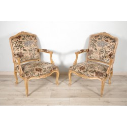Pair of armchairs in the Louis XV style