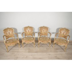 Louis XV style armchairs petit point