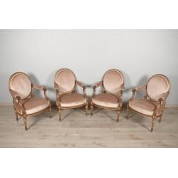 Golden Armchairs Louis XVI style