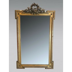 Mirror Louis XVI style gilded wood Napoleon III