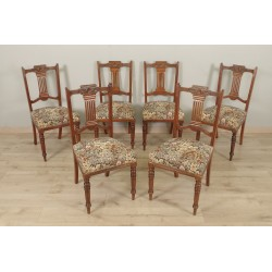Six English style mahogany chairs