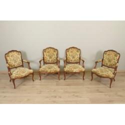 Four Louis XV style armchairs