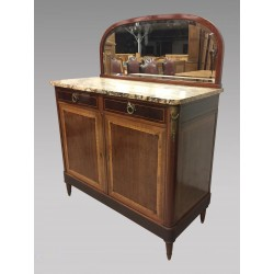 Louis XVI style sideboard with golden bronzes