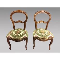 Paire de chaises Napoléon III