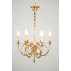 Lustre bronze doré style Louis XVI