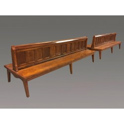 Pair Of Grand Chateau Benches